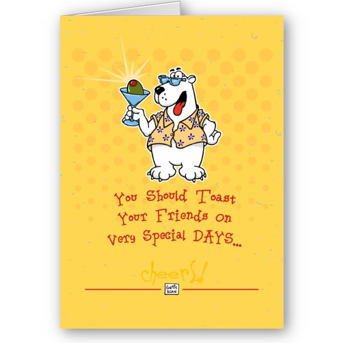 Polar bear funny birthday card by chuckleberrys