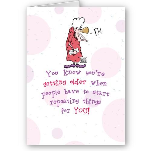 Old Lady Birthday Card